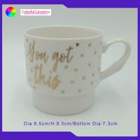 Gold Decal Ceramic Coffee Mug Set Microwave Dishwasher Can Be Use for sale