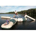 0.9mm PVC Inflatable Water Trampoline Combo With Water Slide for sale