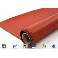 0.9mm Silicone Coated Fiberglass Fabric For Welding Tear Resistance for sale
