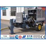 China High Voltage Power Line Stringing Equipment / Hydraulic Pulling machine 19 Ton Cummins Engine for sale