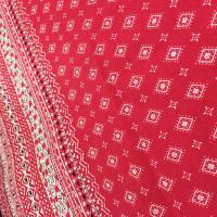 Fashion Printed Rayon Fabric 105 - 110gsm Plain Style With 54/55 Width for sale