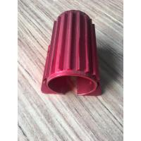 Red Colour Anodising  Aluminum Extrusion CNC Machining Motor Housing with Tapping and Drilling for sale