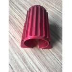 Red Colour Anodized Aluminum Extrusions Motor Housing With Tapping And Drilling for sale