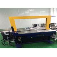 Automatic Corrugated Box Bander Machine / Blue Corrugated Carton Strapping Machine for sale