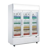 China Three Doors Commercial Display Fridges , 1310L Glass Door Beverage Refrigerator for sale