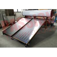 China 300L White Tank Pressurized Flat Plate Solar Water Heater, Blue Titanium Flat Collector for sale