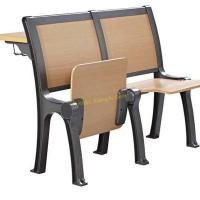 Classic Iron Wooden Stadium Tip Up Foldable Chair For University Lecture Hall for sale