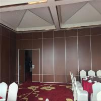 Meeting Room Acoustic Movable Partitions Sliding Folding Partition Walls For Conference Hall for sale