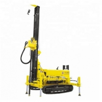 China 300m Crawler Chassis Or Truck Chassis Water Well Drilling Rig Borehole Drilling Equipment 85kw supplier