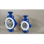 Ductile iron Split Body  Wafer Butterfly Valve with PTFE seated