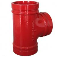 Anti Rust Ductile Iron Pipe Fittings Grooved Plumbing T Joint / Water Pipe T Joint for sale