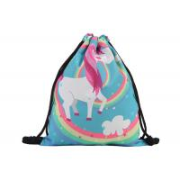 China Stock 39 * 30cm  Custom Drawstring Bags With Logo Cute Polyester Material for sale