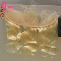 China Double Weft Blonde Brazilian Body Wave Sew In Remy Human Hair Bundles Extensions supplier