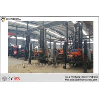 China Crawler Mounted Borehole Drilling Rig With Support Legs 140 - 325mm Hole Diameter for sale
