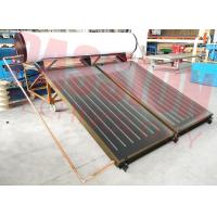China 300L 250L Bathroom Flat Plate Solar Thermal Water Heater , Blue Titanium Solar Collector for sale