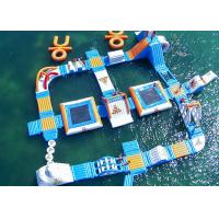 Safe Ocean Inflatable Water Park / Commercial Floating Water Playground for sale