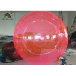 Good Quality Red PVC / TPU 2m Inflatable Water Ball YKK Zipper From Japan for sale