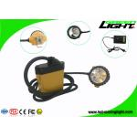 Waterproof IP68 Miners Cap Lamp , SAMSUNG Battery Miners Lights for Hard Hats for sale
