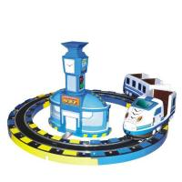 China Coin Operated Kiddie Ride Machines Szf Intercity Train Rail FRP + Metal Material for sale