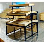 3 Tiers Collapsible Metal Wooden Display Rack For Retail Shop ISO9001 for sale