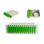 LGX Splitter Box / PLC Splitter Cassette, 1*8 Fiber Optical PLC Splitter PLC splitter patch panel, 19' rack for sale