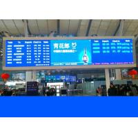 Led railway signs and train station displays with crystal clear Led boards for sale