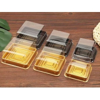 H3.8cm Clear Ice Cake Square PET Mooncake Blister Box for sale