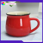 Disherwasher Safe Promotional Ceramic Coffee Mugs 350ml Capacity Custom Logo for sale