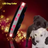 China C903 Wholesale Factory Christmas Flashing Lights Usb Rechargeable Light Up Led Dog collars for sale