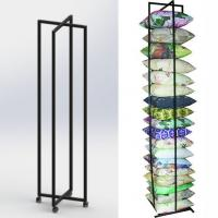 Square Cushion Folded Metal Floor Display Stands with 4 caster