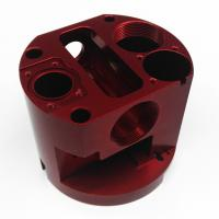 China Red Anodized Milling Aluminium Machined Parts Precision Machined Components for sale
