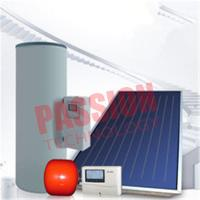 China Split Pressurized Solar Water Heater , Flat Plate Water Heater Blue Titanium Coating for sale