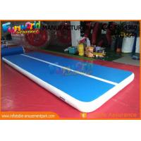 6m x 2m Inflatable Sports Games , Dwf Material Gymnastics Mat Air Tumble Track for sale