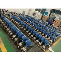 Stainless Steel V Port Pneumatic Segment Ball Valve For Paper & Pulp for sale