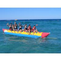 Single Lane For 8 Person Inflatable Banana Boat For Water Exciting Games for sale