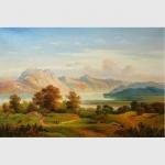 China Mountain Landscape Painting, Fall Original Oil Landscape Paintings For Interior Design for sale