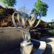 Customized Stainless Steel Outdoor Sculpture / Abstract Yard Sculptures for sale