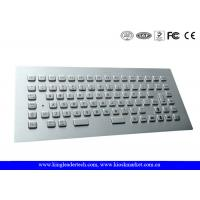 Rugged Panel Mount Stainless Steel  Keyboard with 12 Function Keys , CE / FCC for sale