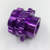 China Telescope Parts Aluminium Cnc Service Milling Machining Purple Anodized Surface supplier