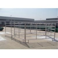 China 1.8*2.4m cattle yard panels round oval stainless steel pipe SGS approved for sale