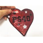 Laser Cut Border Sequin Patches For Clothes Eco Friendly Recycled Material for sale