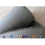 1550G 1.5MM Thermal Insulation Materials Grey Silicone Coated Fiberglass Fabric for sale