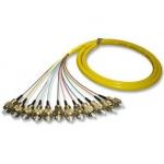 China 12 Cores FC/PC Bunch/Break out Fiber Optic Pigtail Single Mode With High Temperature Stability for sale