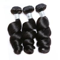 Natural Color Loose Wave Hair Malaysian Virgin Hair Extensions Full Cuticle Aligned for sale