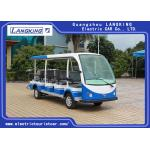China 72V 14 Seats Electric Shuttle Vehicles For Multi Passenger 28km/H Max. Speed Balck Seat With Curtain for sale