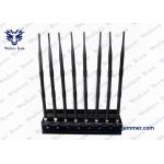 China 8 Bands Cell Phone Blocking Device Stable Performance 3G 4GLTE 4GWimax GPS Jammer for sale