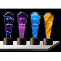 China Sandblasting / Lasering Logo Glass And Crystal Trophies , Personalised Glass Awards for sale
