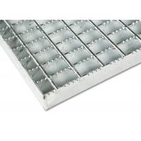 Anti Rust Stainless Steel Bar Grating Optional Serrated / Algrip Surfaces for sale