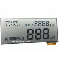 5.0V FPC Segment TN LCD Display , Intruments Meters Monochrome LCD Display for sale