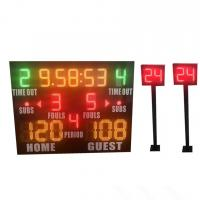 China Small Model Standard LED Basketball Scoreboard Plus Shot Clock Long Life for sale